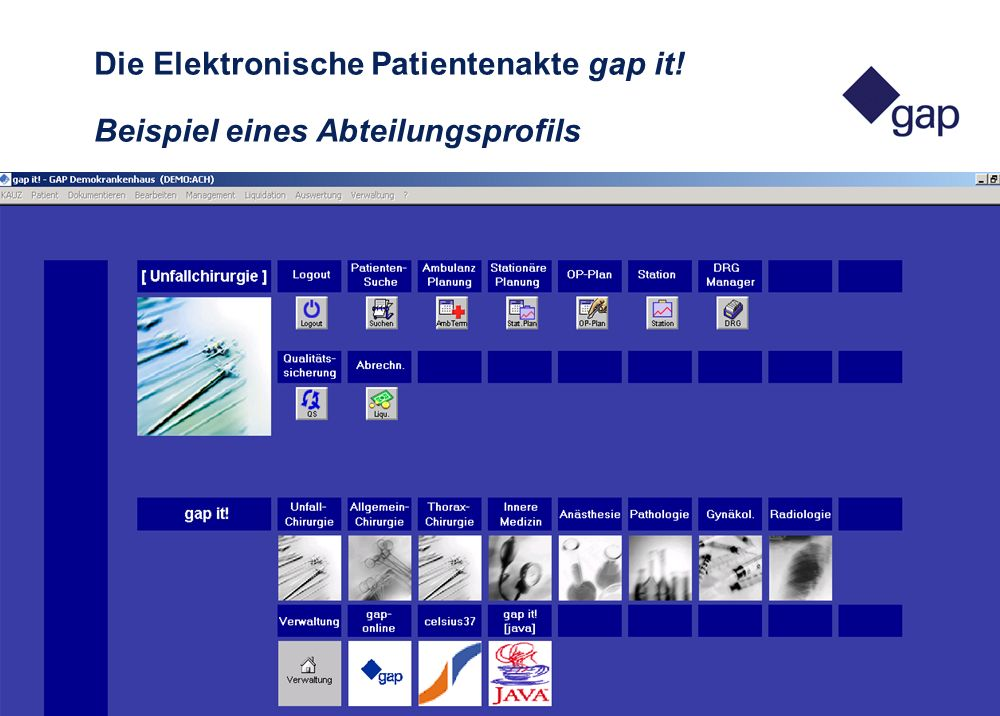 Die Elektronische Patientenakte gap it
