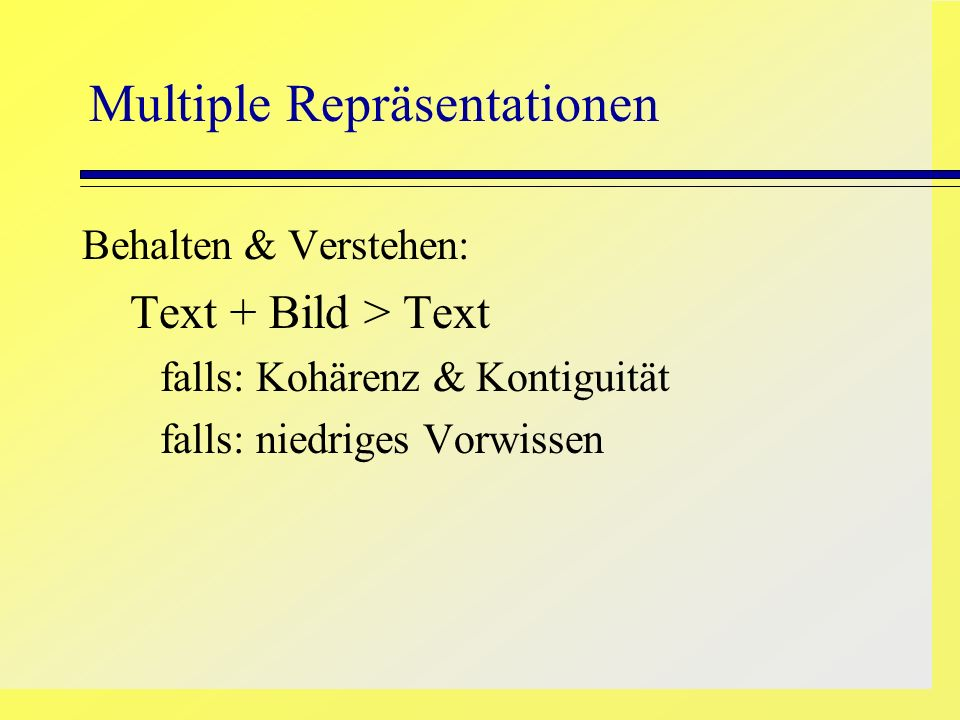 Multiple Repräsentationen