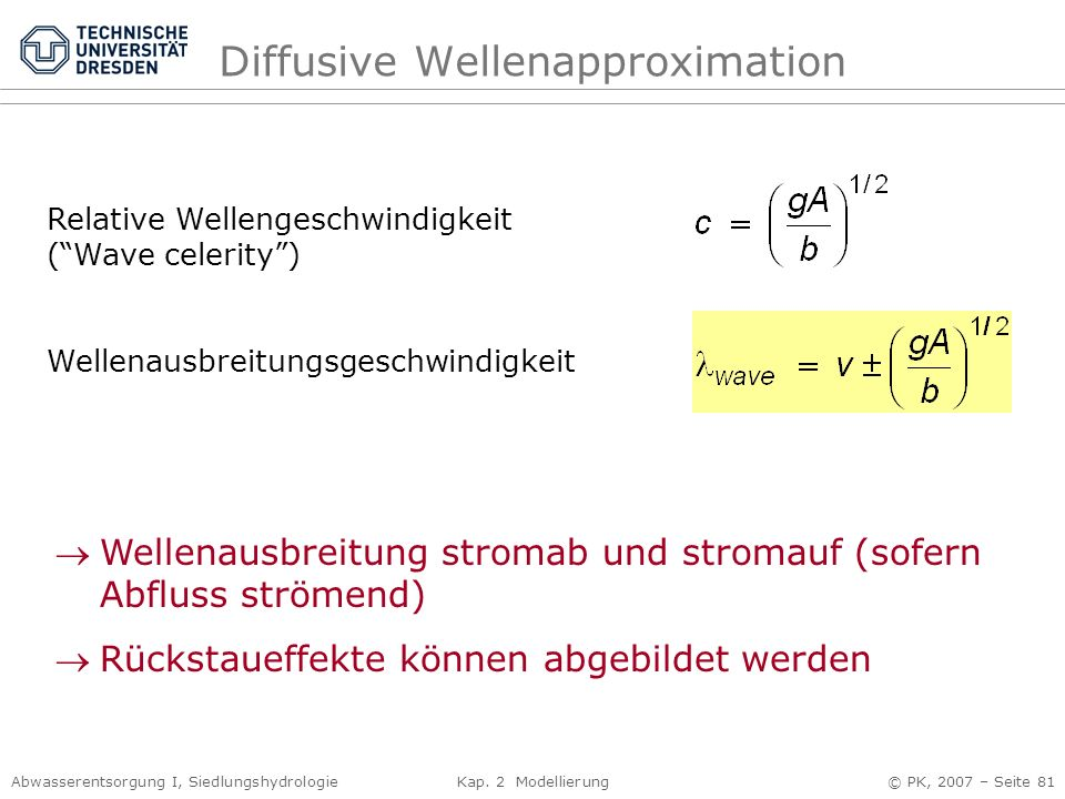 Diffusive Wellenapproximation