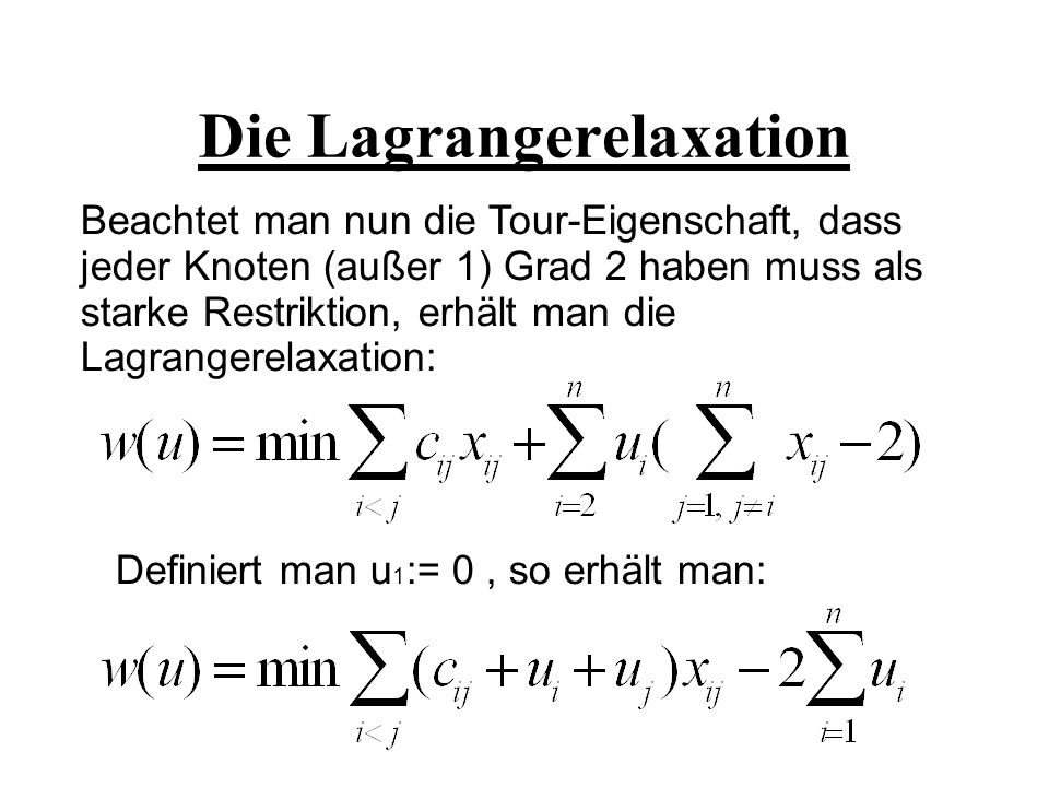 Die Lagrangerelaxation