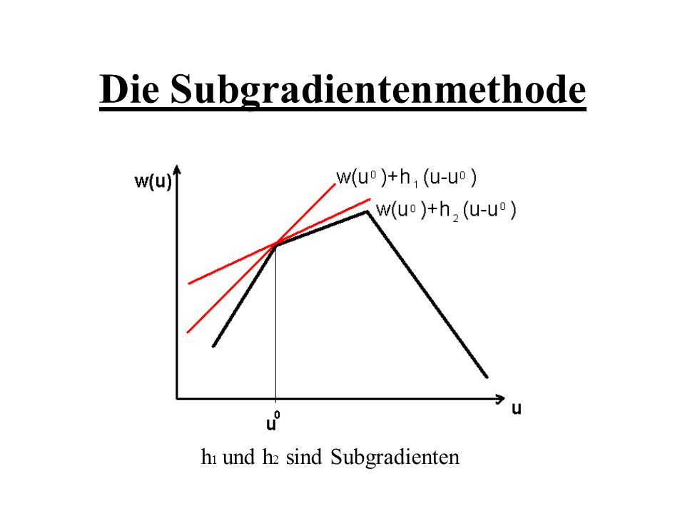 Die Subgradientenmethode
