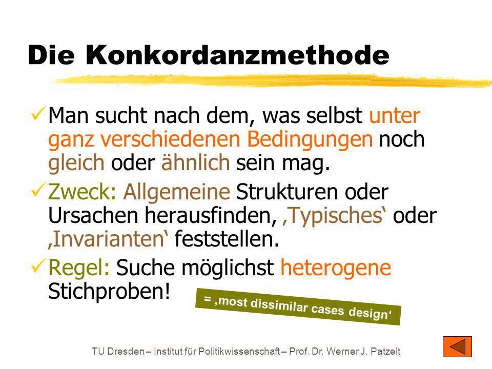 Die Konkordanzmethode