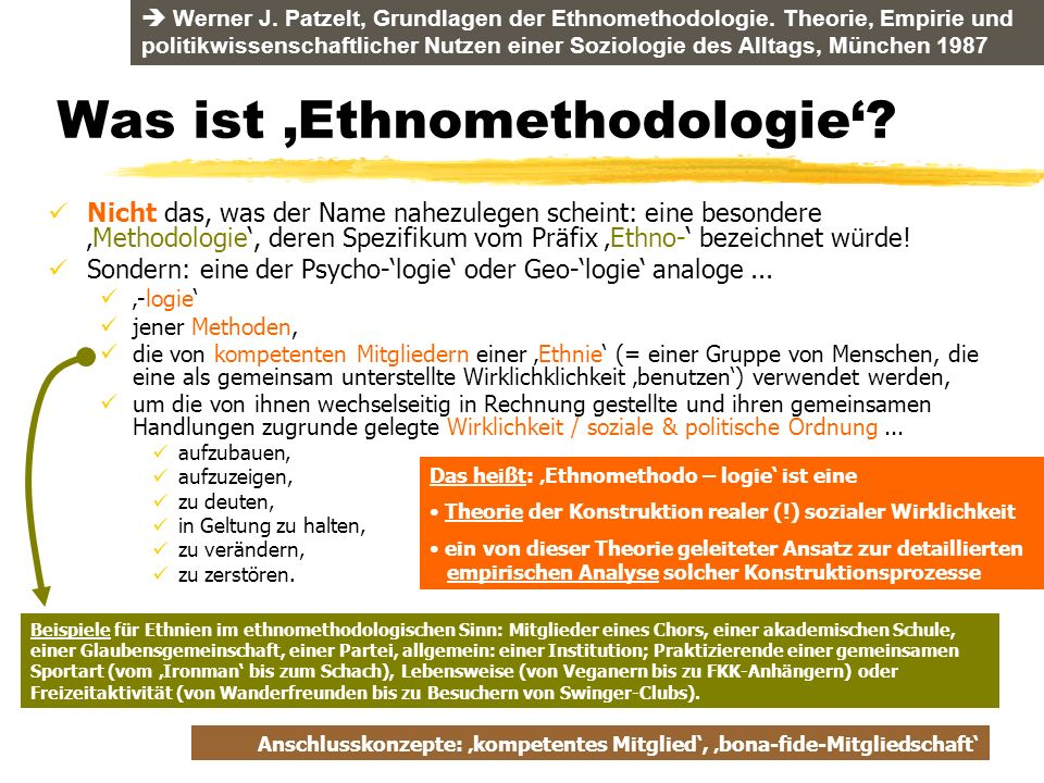 Was ist 'Ethnomethodologie'