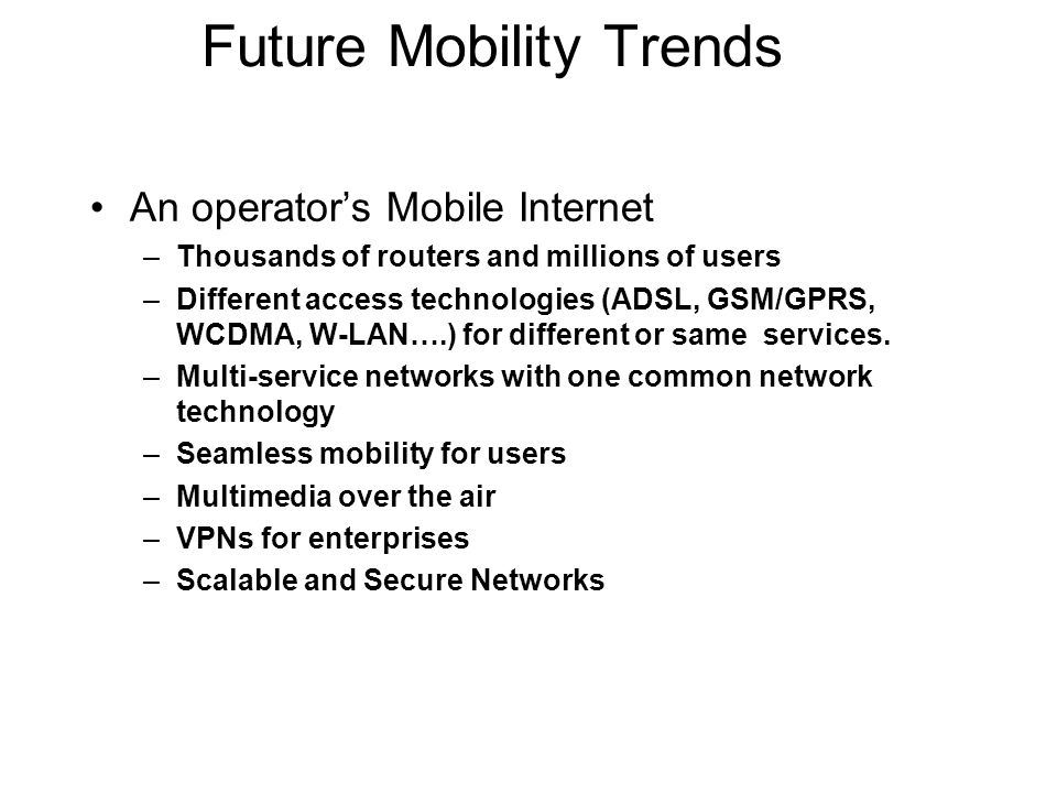 Future Mobility Trends