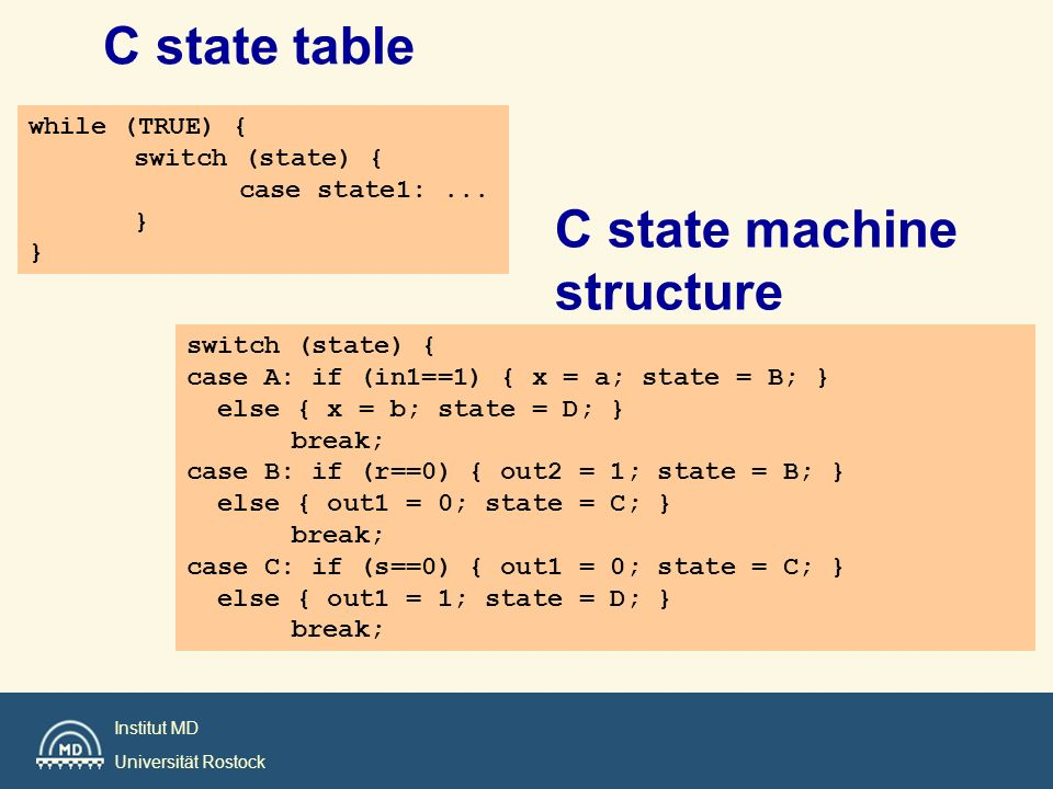 C state machine structure