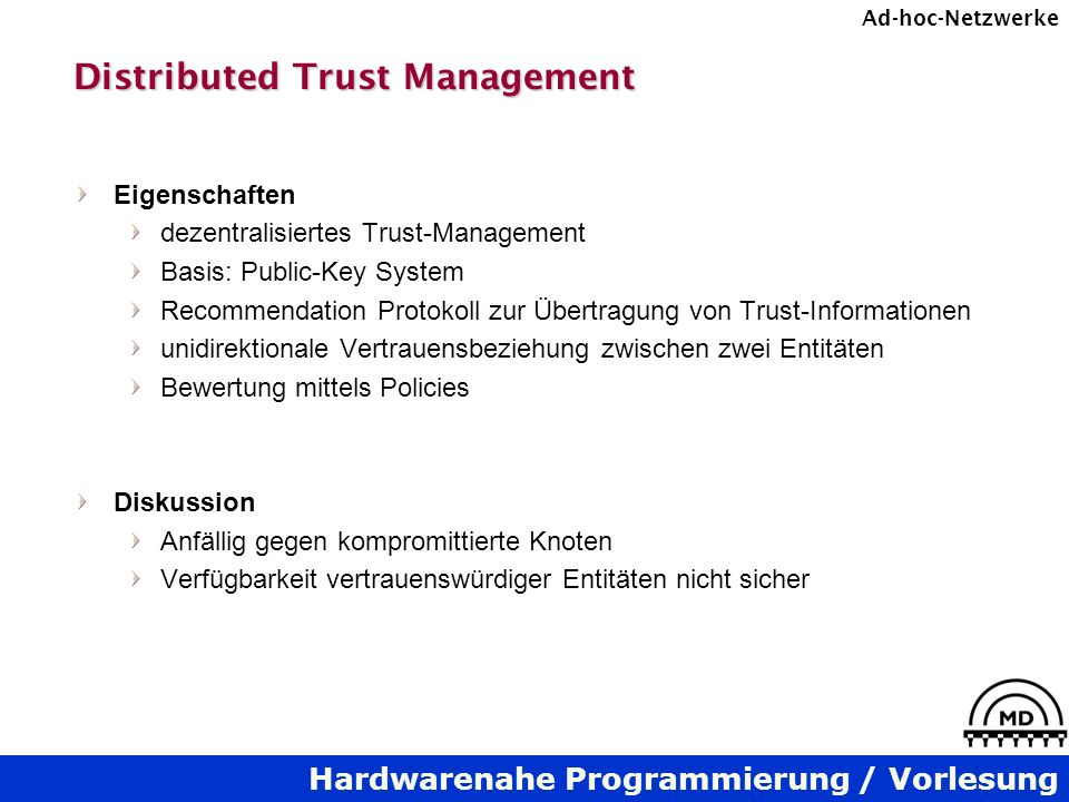 Distributed Trust Management