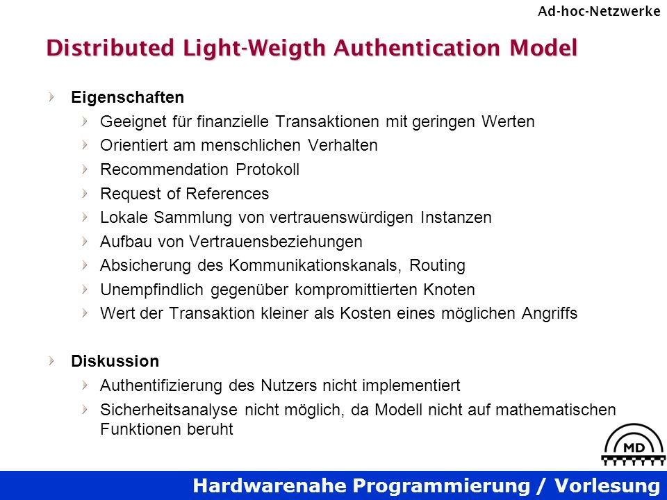 Distributed Light-Weigth Authentication Model