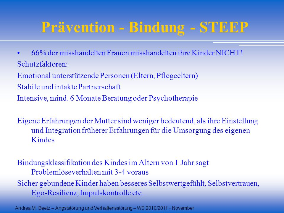 Prävention - Bindung - STEEP
