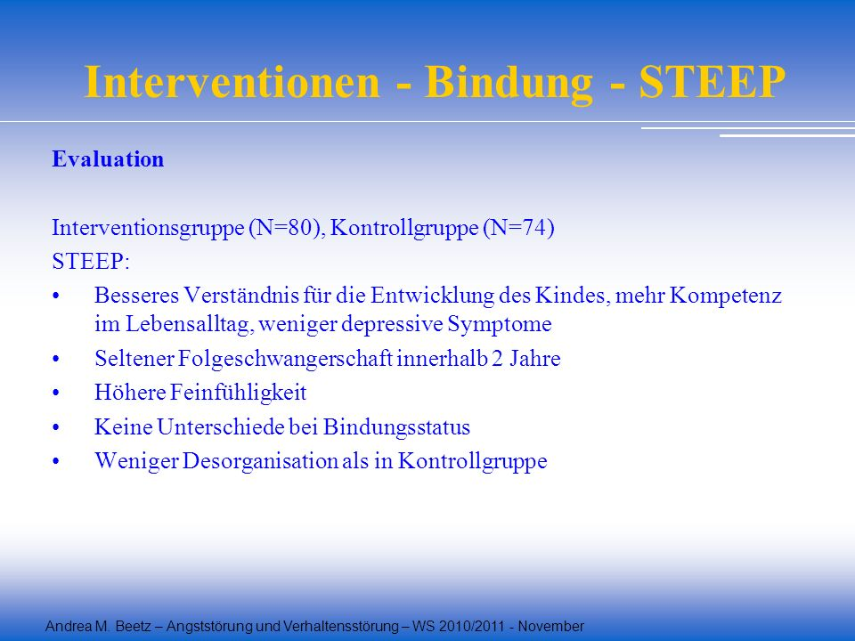Interventionen - Bindung - STEEP