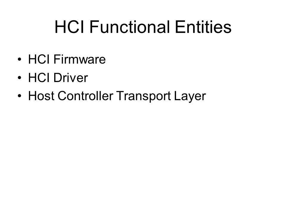HCI Functional Entities