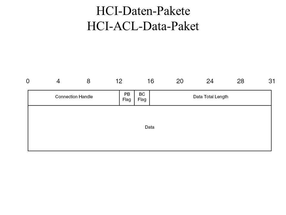 HCI-Daten-Pakete HCI-ACL-Data-Paket