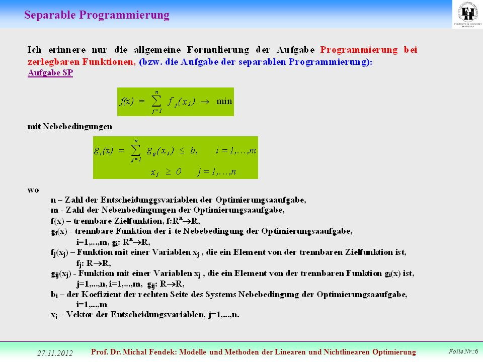 Separable Programmierung