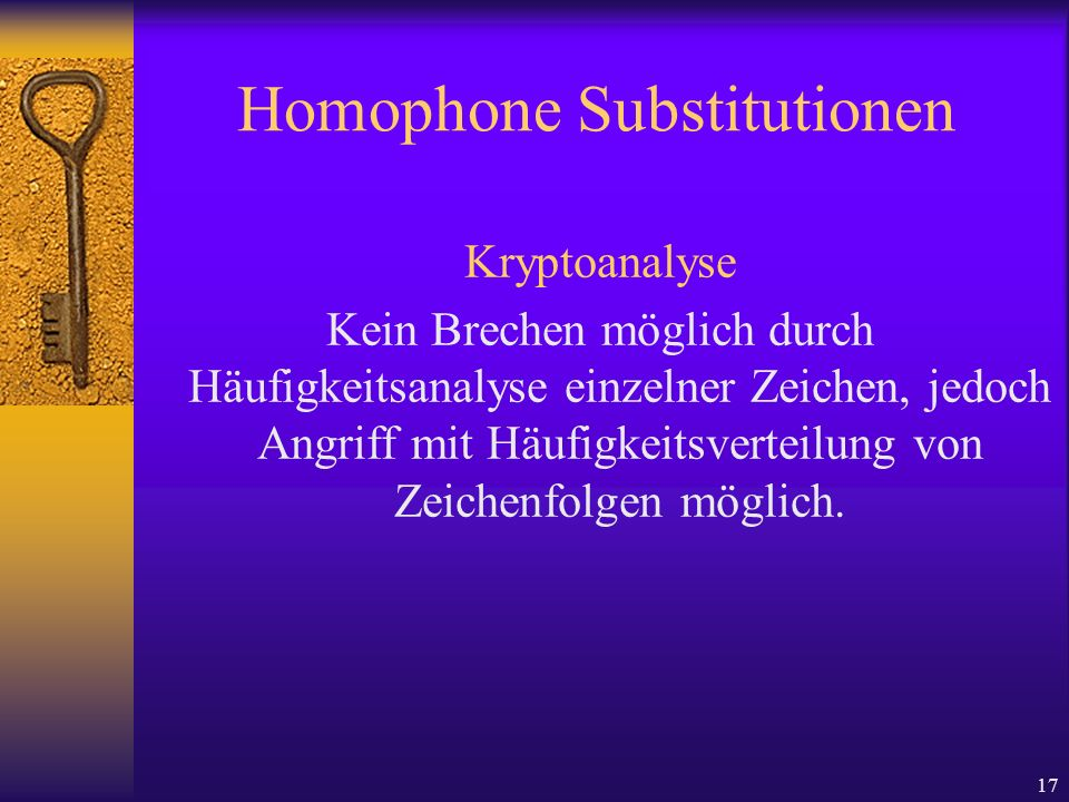 Homophone Substitutionen