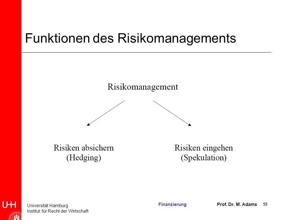 Funktionen des Risikomanagements