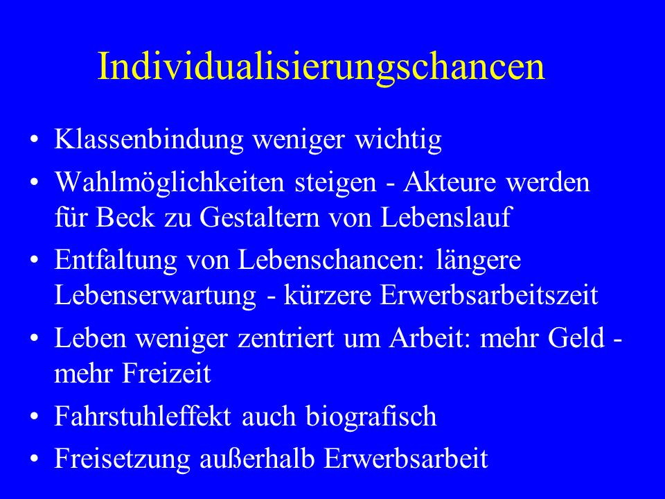 Individualisierungschancen