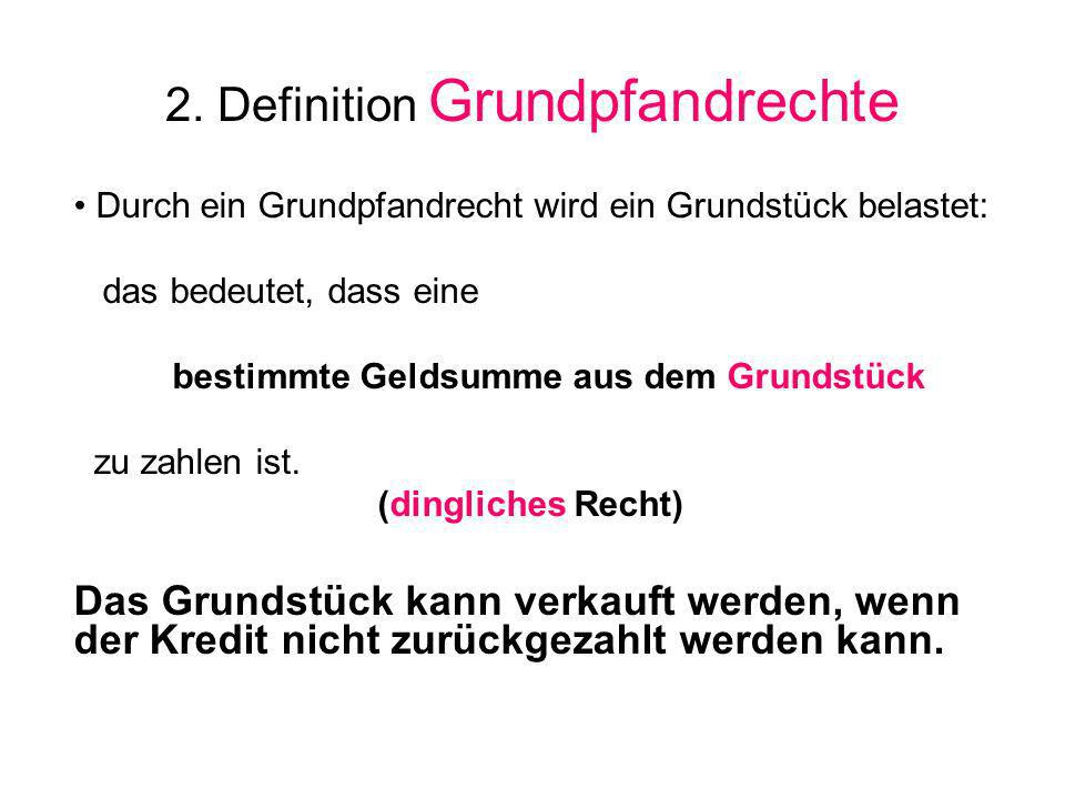 2. Definition Grundpfandrechte