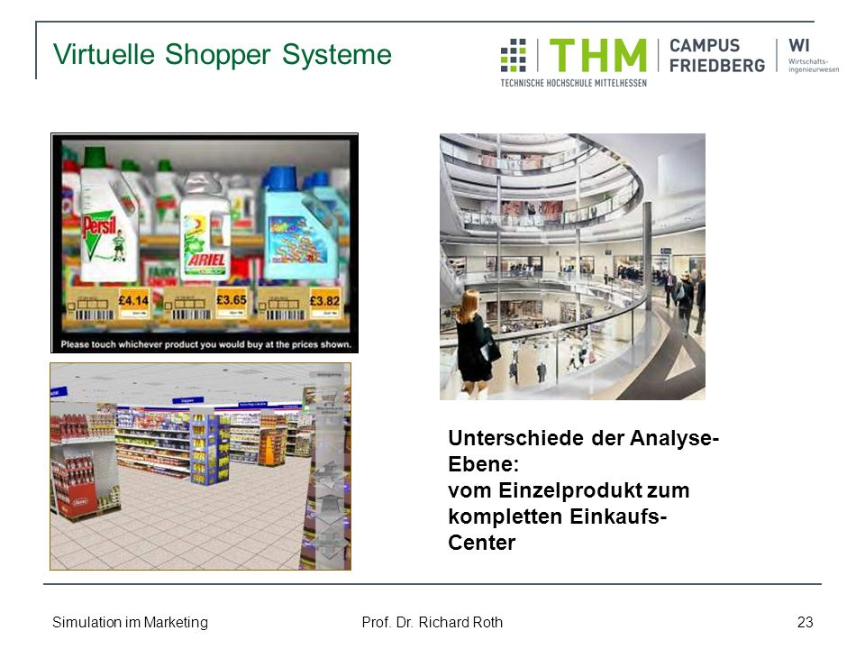 Virtuelle Shopper Systeme