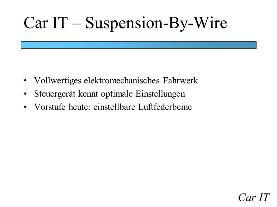 Car IT – Suspension-By-Wire
