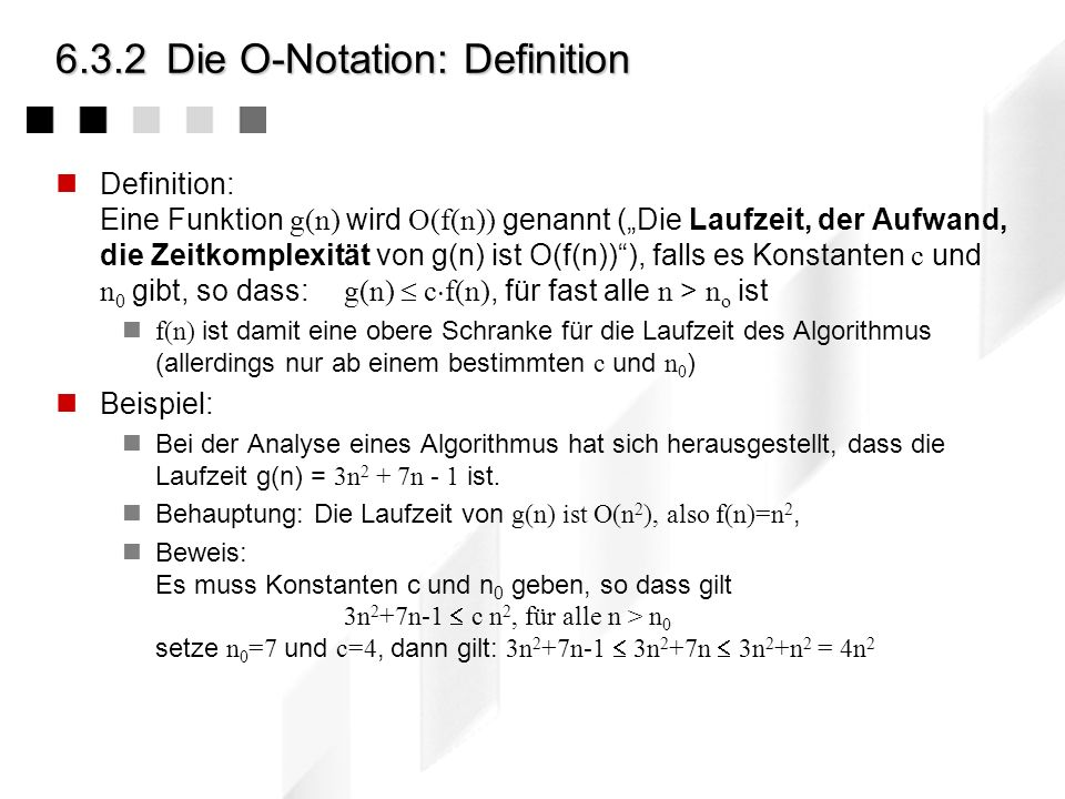6.3.2 Die O-Notation: Definition