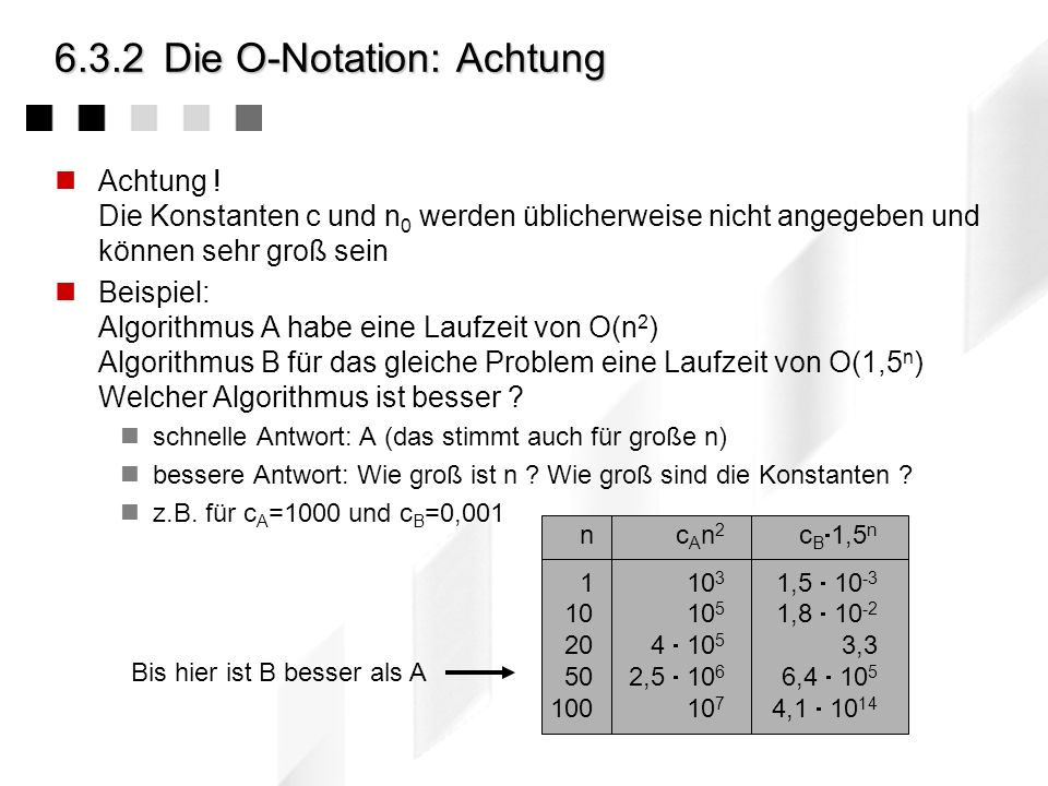 6.3.2 Die O-Notation: Achtung