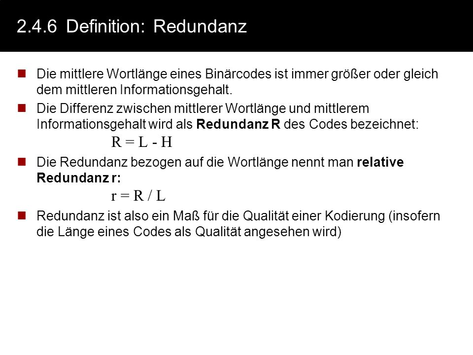 2.4.6 Definition: Redundanz