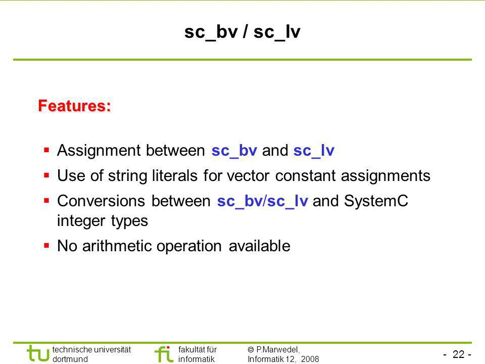 sc_bv / sc_lv Features: Assignment between sc_bv and sc_lv