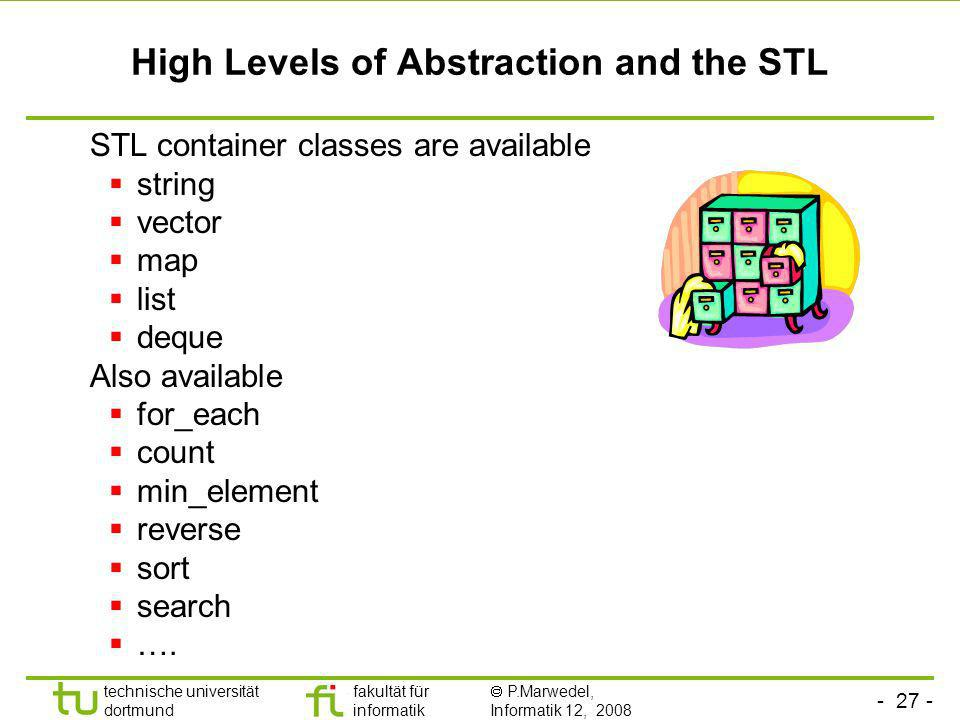 High Levels of Abstraction and the STL