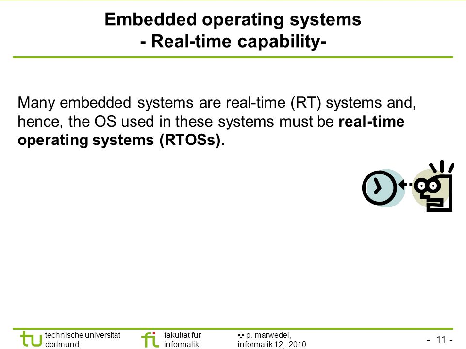 Embedded operating systems - Real-time capability-