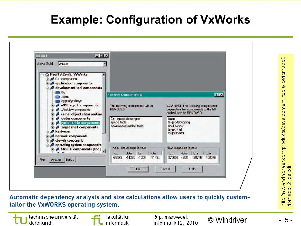 Example: Configuration of VxWorks