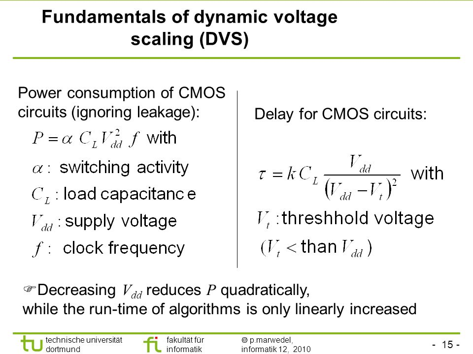 Fundamentals of dynamic voltage scaling (DVS)