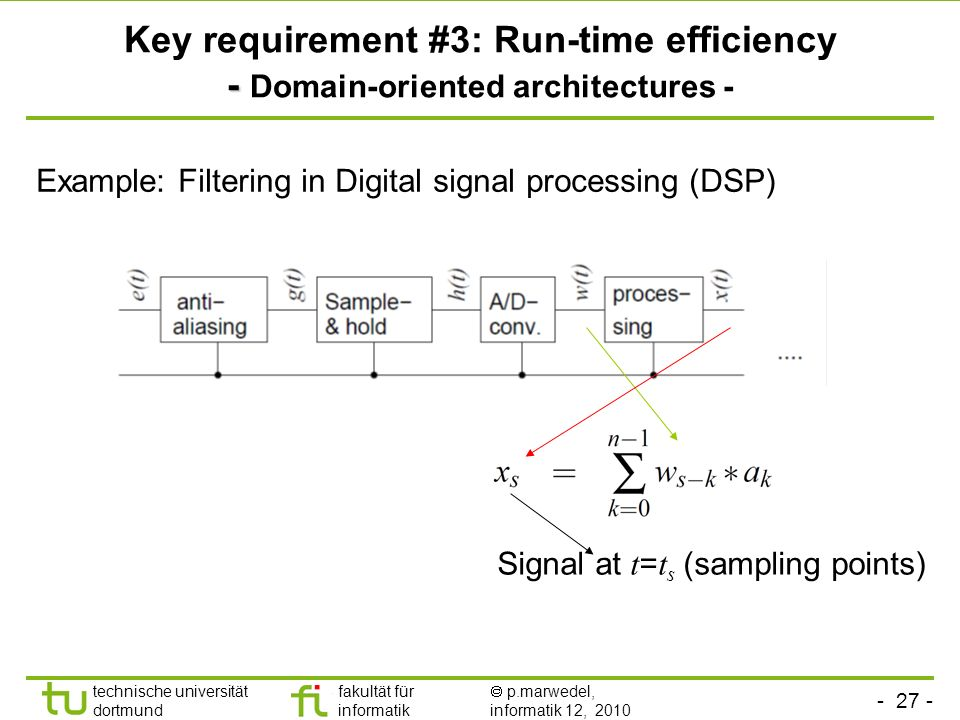 Key requirement #3: Run-time efficiency - Domain-oriented architectures -