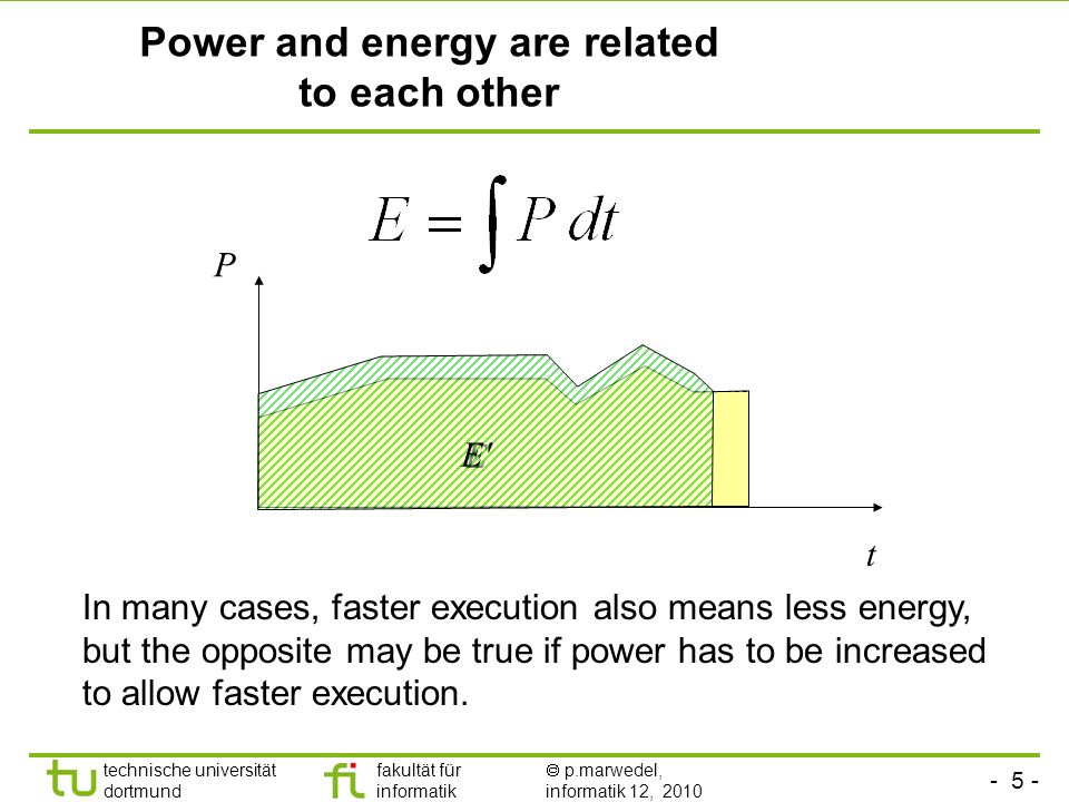 Power and energy are related to each other
