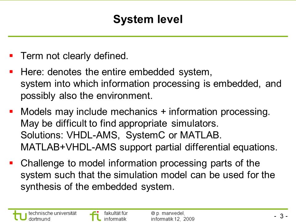 System level Term not clearly defined.