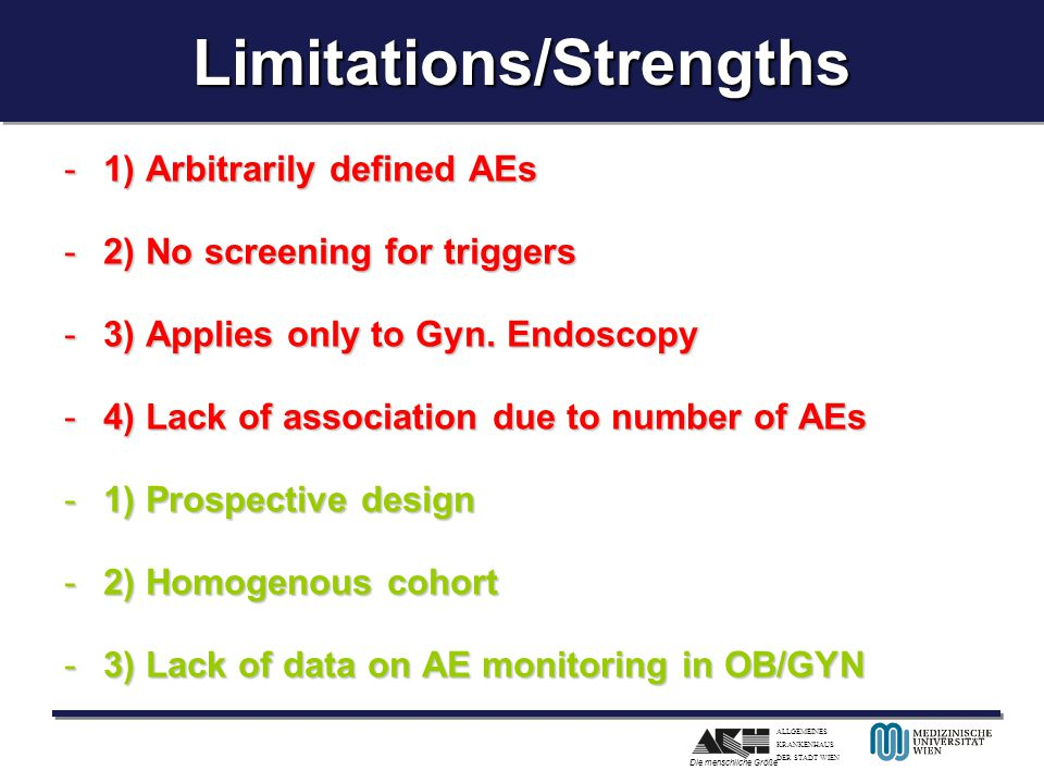 Limitations/Strengths