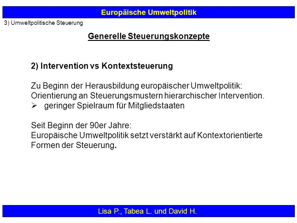 2) Intervention vs Kontextsteuerung