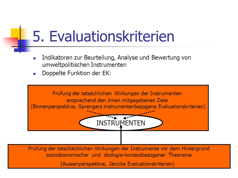 5. Evaluationskriterien