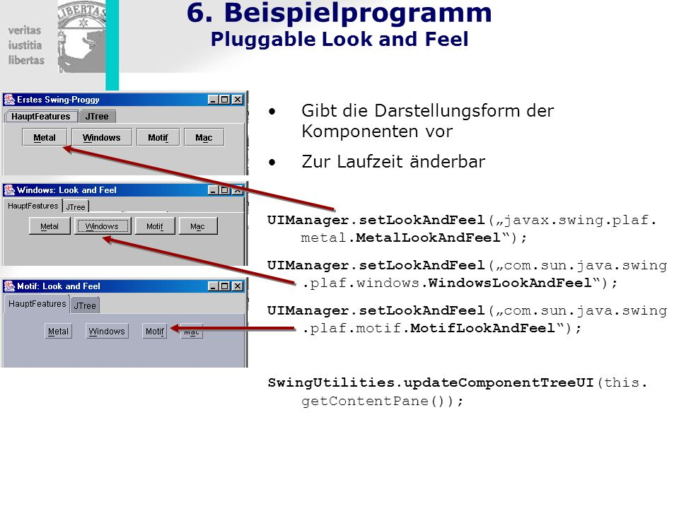 6. Beispielprogramm Pluggable Look and Feel