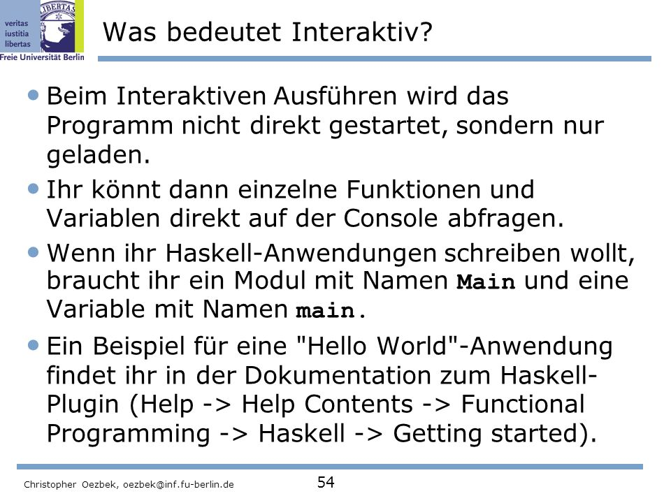Was bedeutet Interaktiv