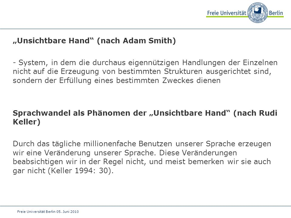 """Unsichtbare Hand (nach Adam Smith)"