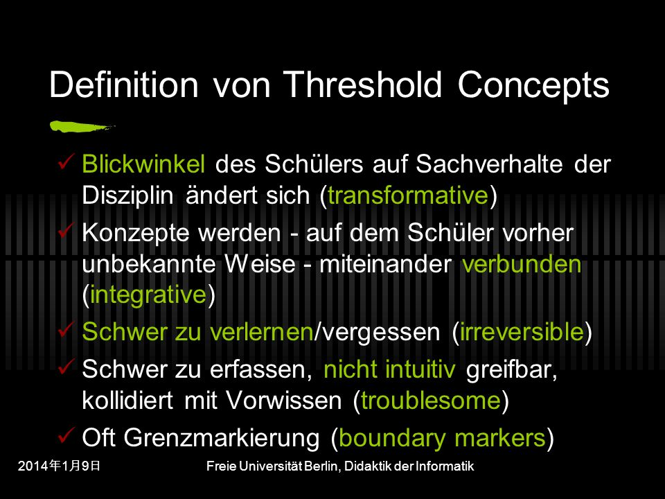 Definition von Threshold Concepts