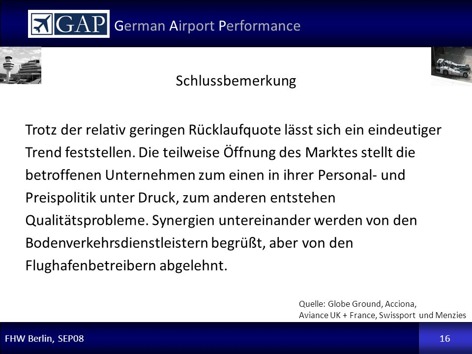German Airport Performance