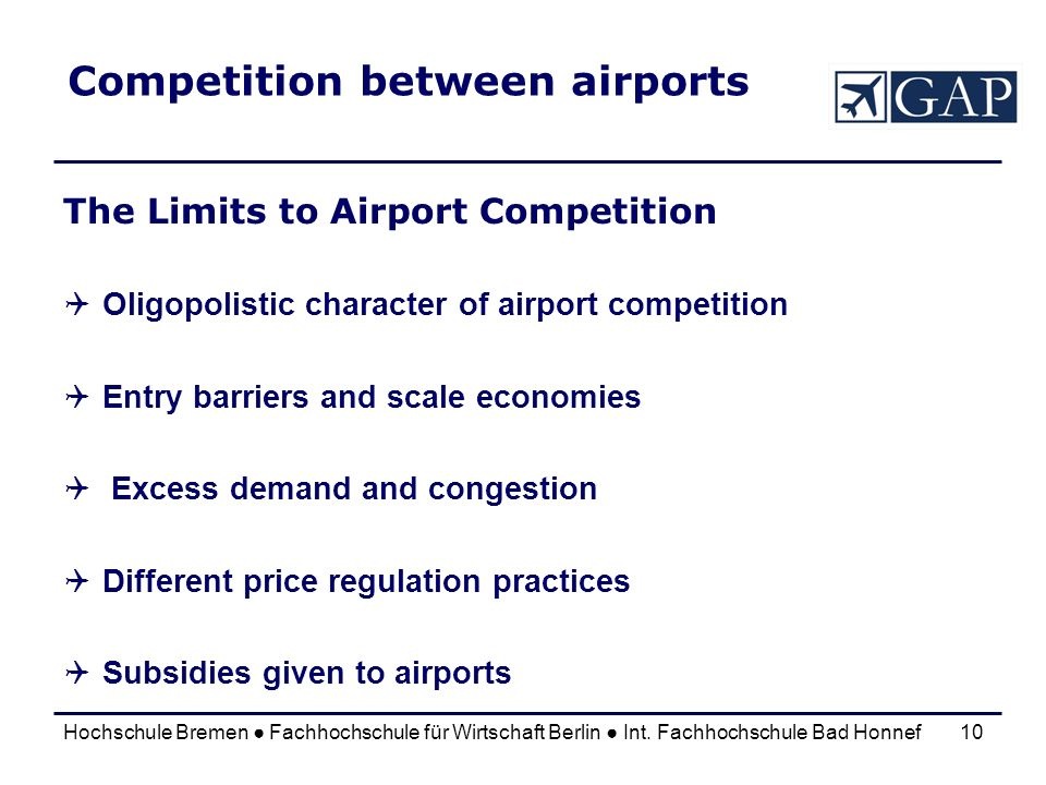 Competition between airports