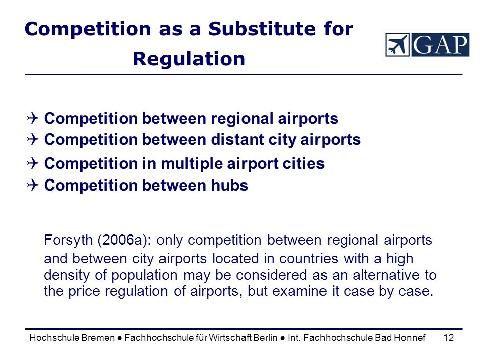 Competition as a Substitute for Regulation
