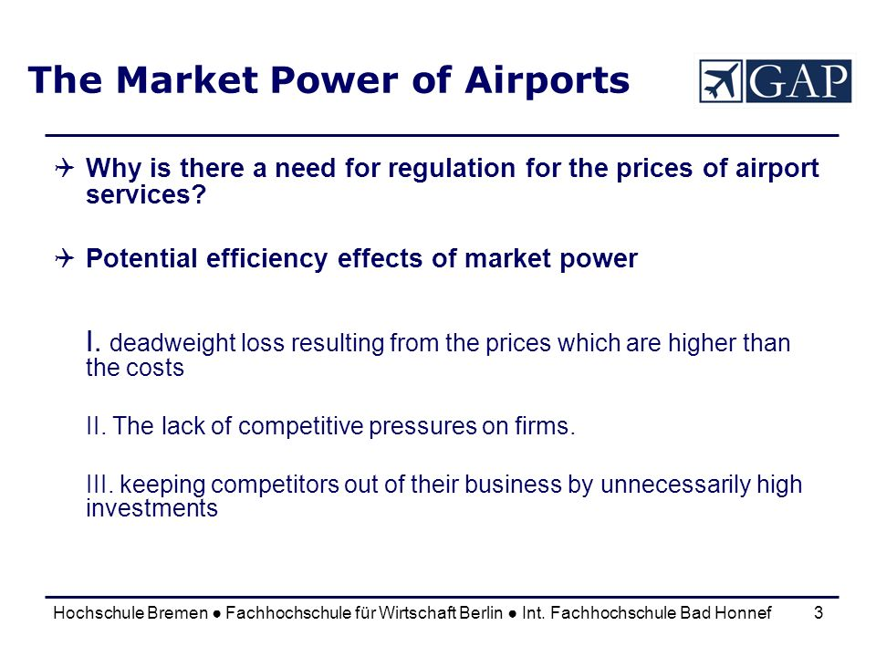 The Market Power of Airports