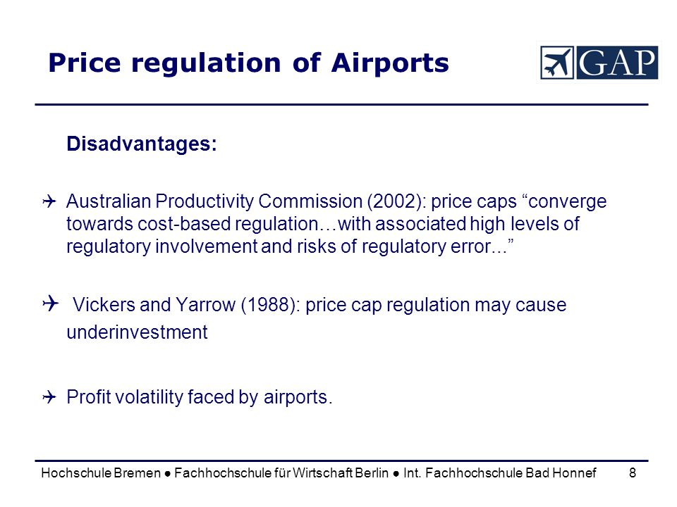 Price regulation of Airports