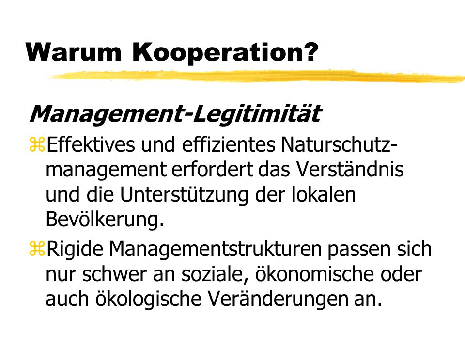 Warum Kooperation Management-Legitimität