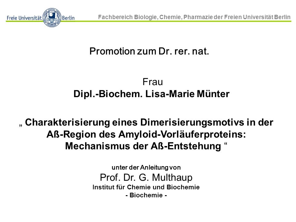 Frau Dipl.-Biochem. Lisa-Marie Münter