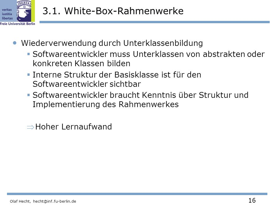 3.1. White-Box-Rahmenwerke