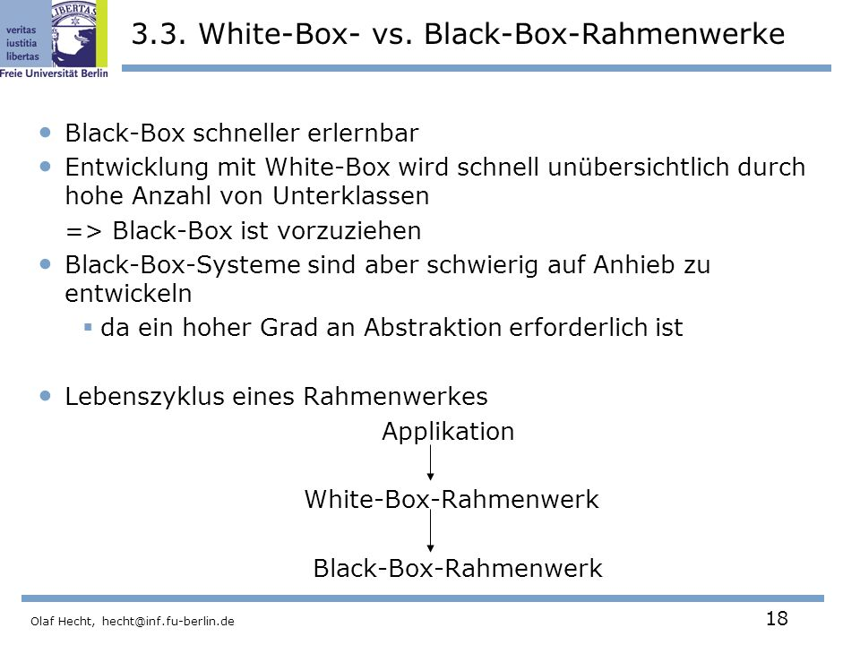 3.3. White-Box- vs. Black-Box-Rahmenwerke