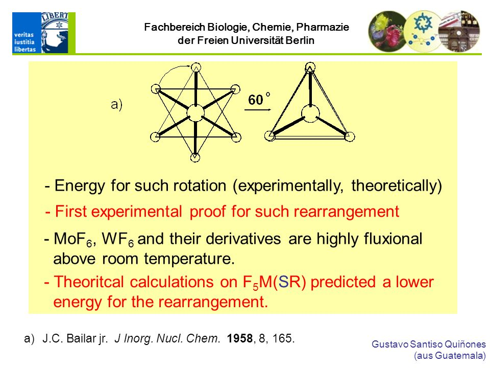 - Energy for such rotation (experimentally, theoretically)